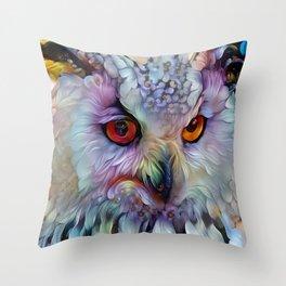 Ethereal Owl Throw Pillow