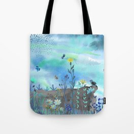 Blue Garden I Tote Bag