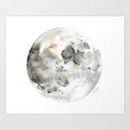 Bare Moon Art Print