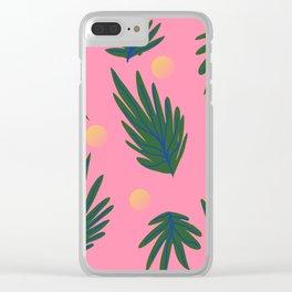 Leaf design Clear iPhone Case