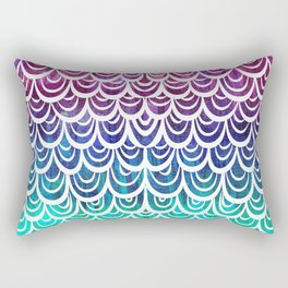 Watercolor Mermaid Alexandrite Rectangular Pillow