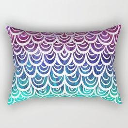 Watercolor Mermaid Alexandrite Rectangular Pillow