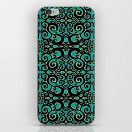 Project 494 | Filigre on Teal Green iPhone Skin