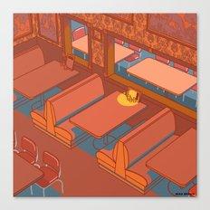 Dots Cafe, Portland Oregon Canvas Print