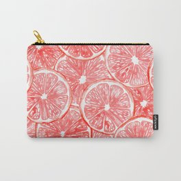 Watercolor grapefruit slices pattern Carry-All Pouch