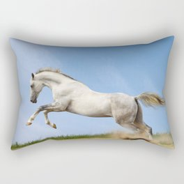 WHITE HORSE Rectangular Pillow