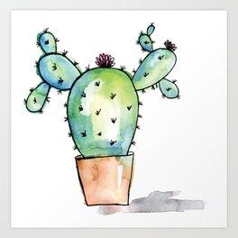 Watercolor Cactus Art Print