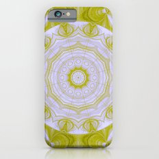 Green and white quilt kaleidoscope Slim Case iPhone 6s