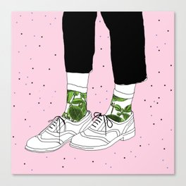 Starry Shoes Canvas Print