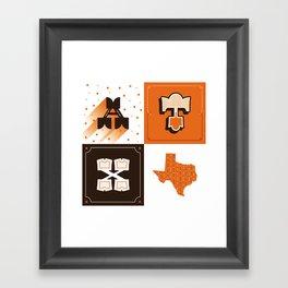 Austin, Texas Orange Framed Art Print