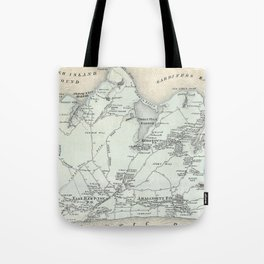 Vintage Map of East Hampton New York (1873) Tote Bag