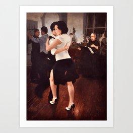 Tango Reunion Art Print