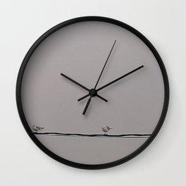 Chill I Birds I  Seagull I Art Print I Photography  Wall Clock