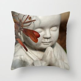 Buddha in the Fall Throw Pillow