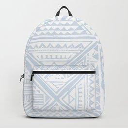 Simply Tribal Tile in Sky Blue on Lunar Gray Backpack