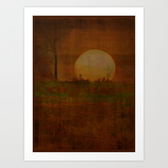 Sharaz within the sunset Art Print