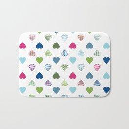 AFE Colorful Hearts Bath Mat