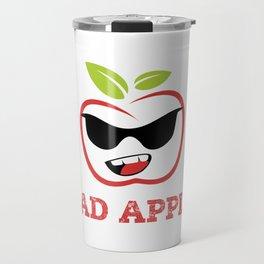Bad Apple in Black Sunglasses with Attitude Travel Mug