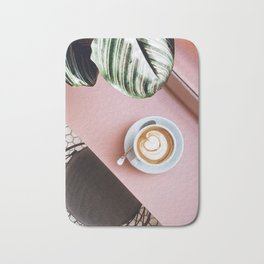 pink latte Bath Mat