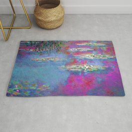 Water Lillies - Claude Monet (plastic pink) Rug