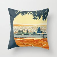 palestine Throw Pillows featuring Palestine by Lost & Found