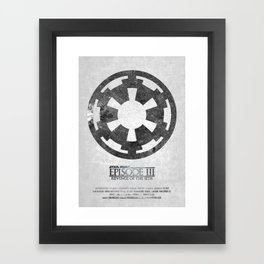 Star Wars - Revenge of the Sith (with Background) Framed Art Print
