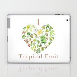 Tropical Fruit Love Heart Laptop & iPad Skin