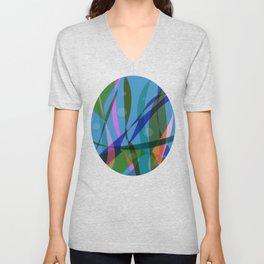 Abstract #355 Unisex V-Neck