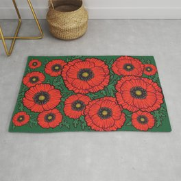 Happy Poppies / Beautiful Flowers / The Best Gift Rug