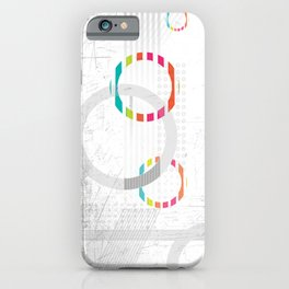 Abstract grey marble geometric texture iPhone Case