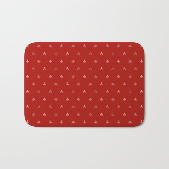 Maritime small Nautical Red and White Anchor Pattern 1 - Anchors on #Society6 Bath Mat