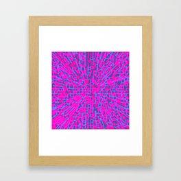 Hot pink hopscotch Framed Art Print