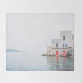 Ischia Island in Italy Sea View Throw Blanket