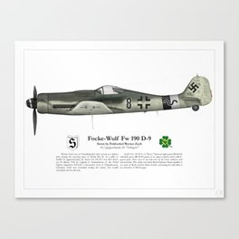 Fw 190 D-9 - Werner Zech Canvas Print