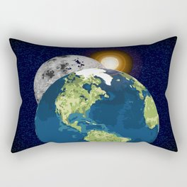 Earth Moon and Sun Rectangular Pillow