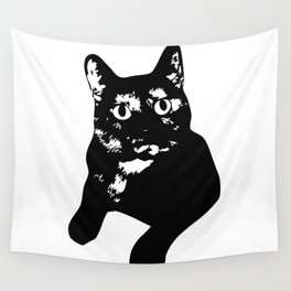 Graphic Cat | Black & White Wall Tapestry