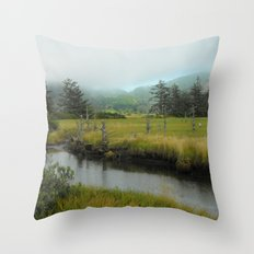 Mystery In Mist Throw Pillow