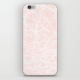 Contemporary  White Line Art on Pink-Mix & Match with Simplicity of life iPhone Skin