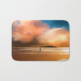 Walk into the sunset Bath Mat