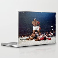 ali gulec Laptop & iPad Skins featuring Ali Painting by Neon Monsters