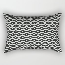 Black & White Tribal Pattern Rectangular Pillow