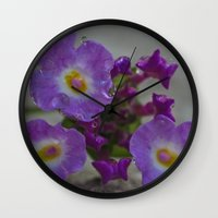 bath Wall Clocks featuring Bath by Nicole Dupee