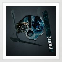 dishonored Art Prints featuring pause by emrento