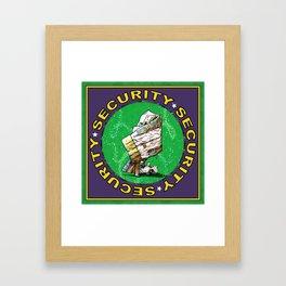 Blanket & Bear Security Framed Art Print