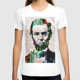 Abraham Lincoln 2017 Watercolor President Art Painting Pop ART T-shirt