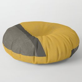 Abstract mustard grey Floor Pillow