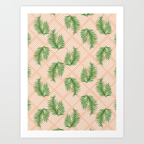 Geometries & Palms #society6 #decor #buyart Art Print