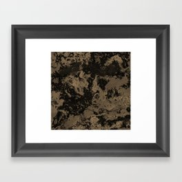 Galaxy in Taupe Framed Art Print