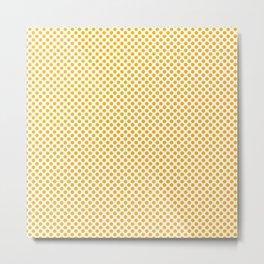 Gold Fusion Polka Dots Metal Print