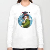 mad hatter Long Sleeve T-shirts featuring Mad Hatter by Diogo Verissimo